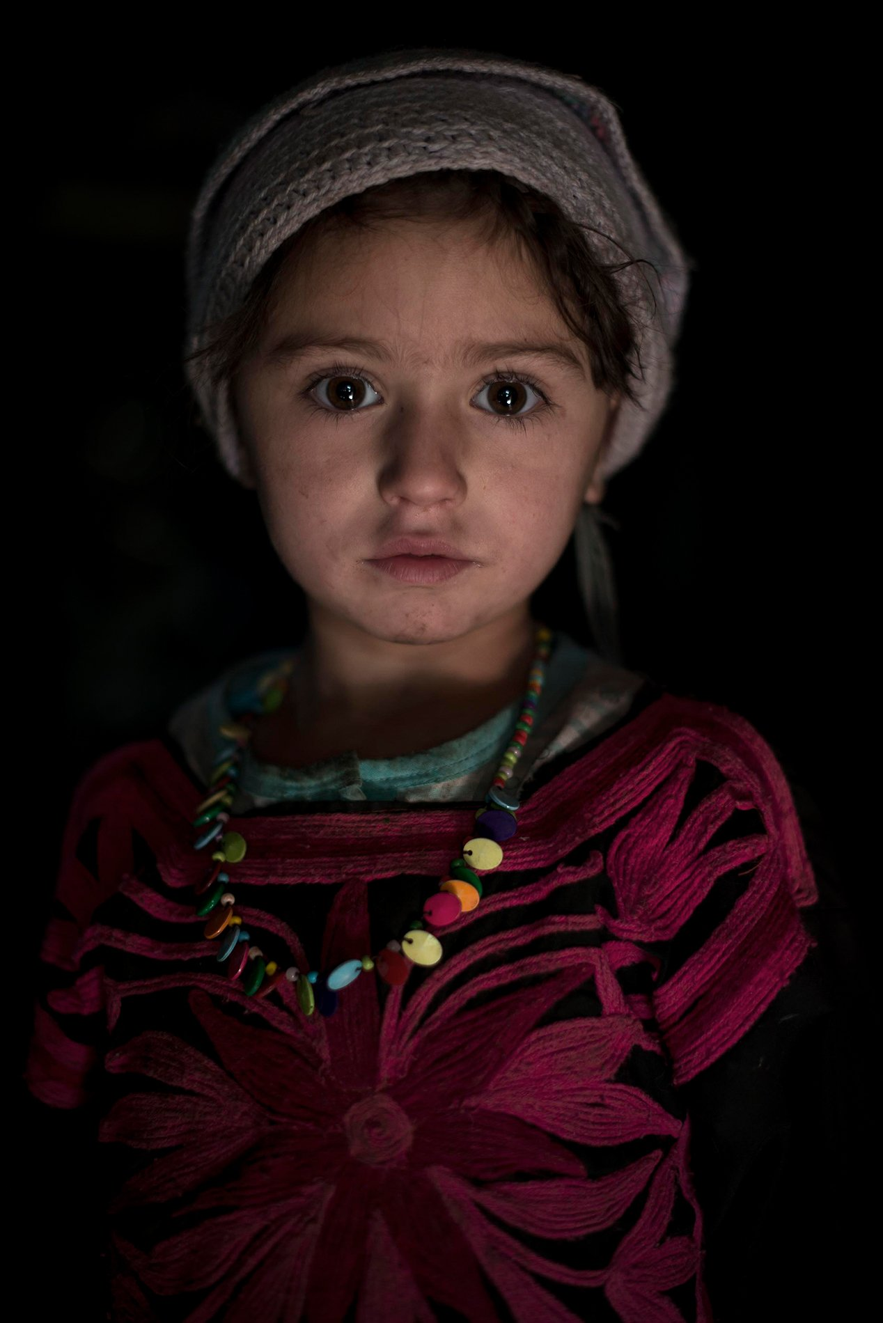 young girl colorful and high contrast portrait photography by mattia passarani.