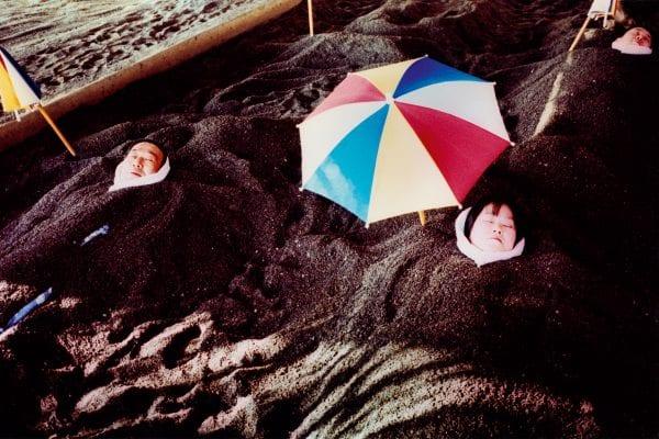 beach day from the sunlanders series, color darkroom prints handmade by Sean Lotman