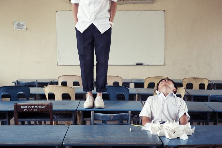 Wilfred Lim classroom self portrait photography