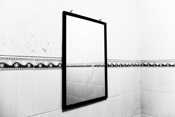 mirror black & white, contrast photography by Aji Susanto Anom