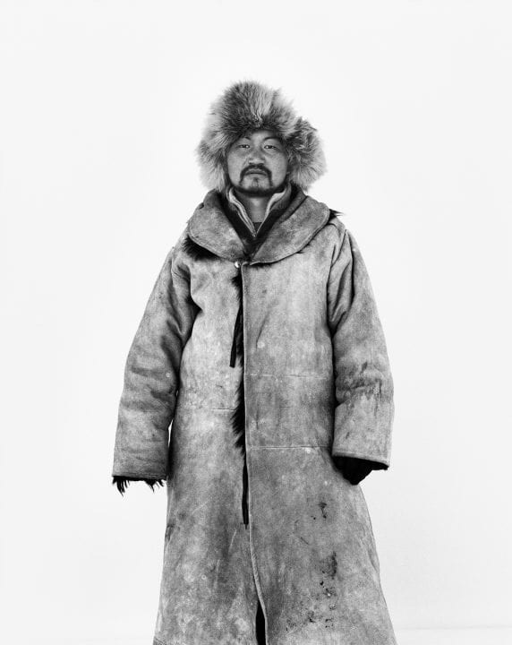 black and white portrait photography in Mongolia
