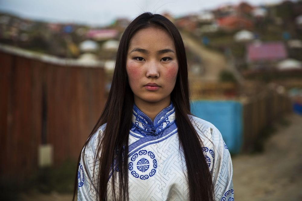 mongolian woman portrait photography in color by mihaela noroc, the atlas of beauty series