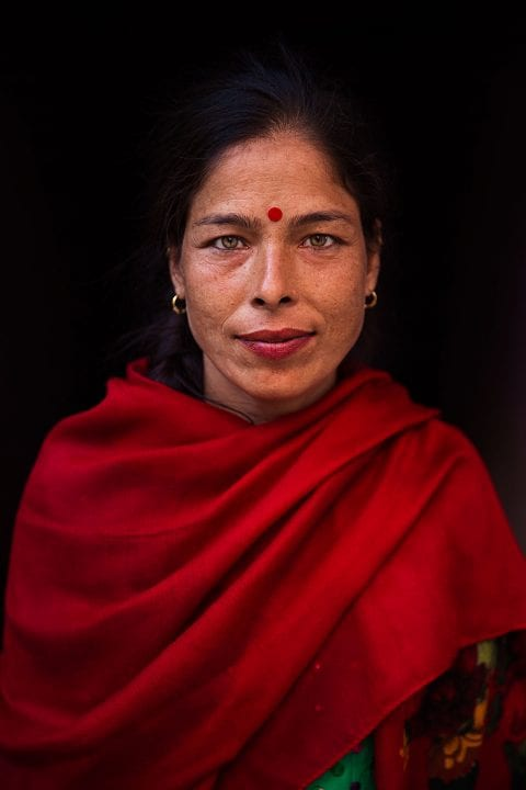 nepal woman portrait photography in color by mihaela noroc, the atlas of beauty series