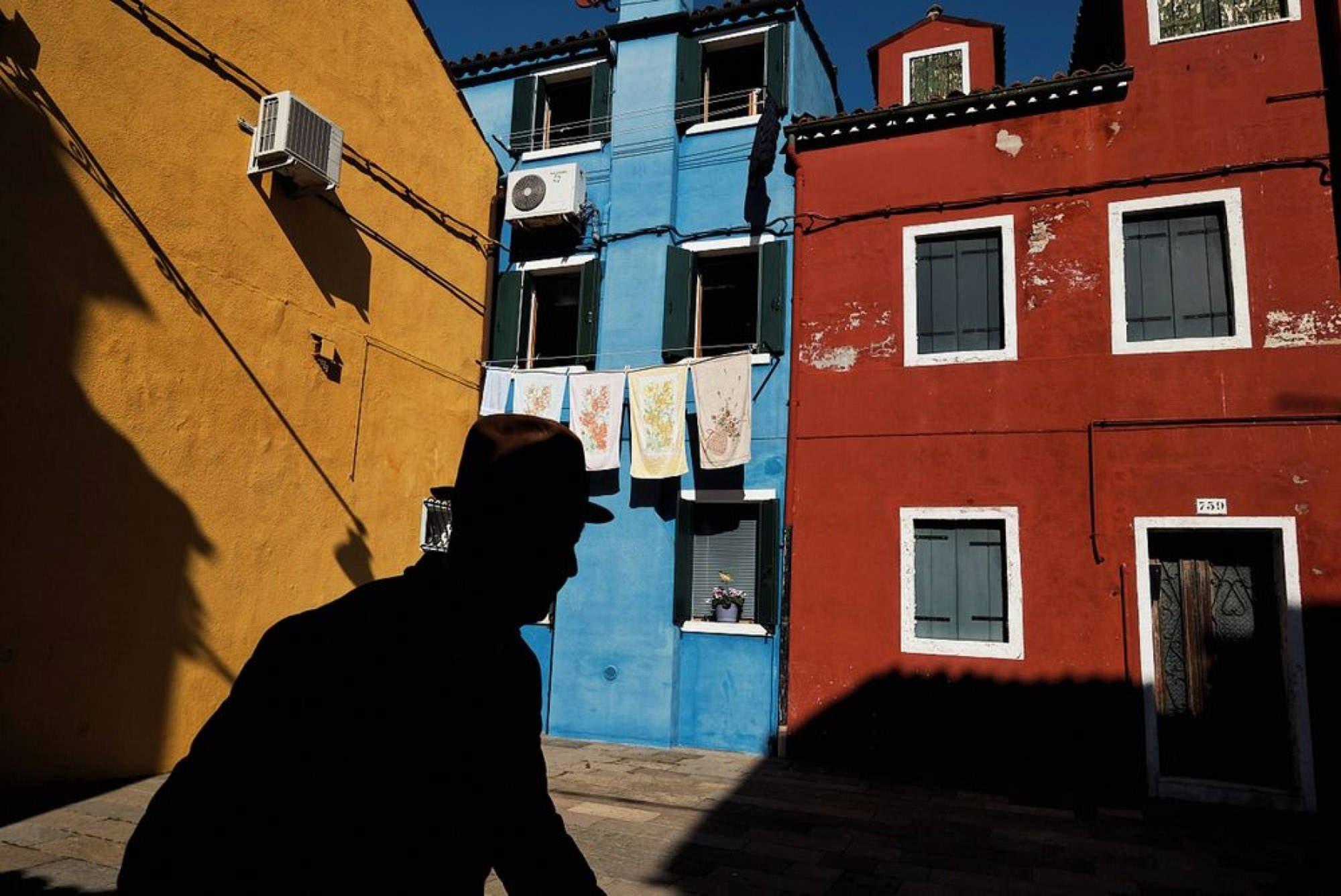 B-Uranus - colorful street houses in Venice, Italy, by photographer Mirko Saviane