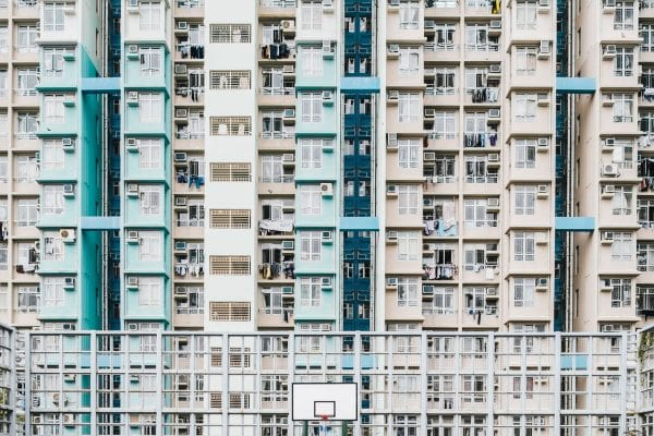 Hong Kong basketball court color photography by guillaume dutreix