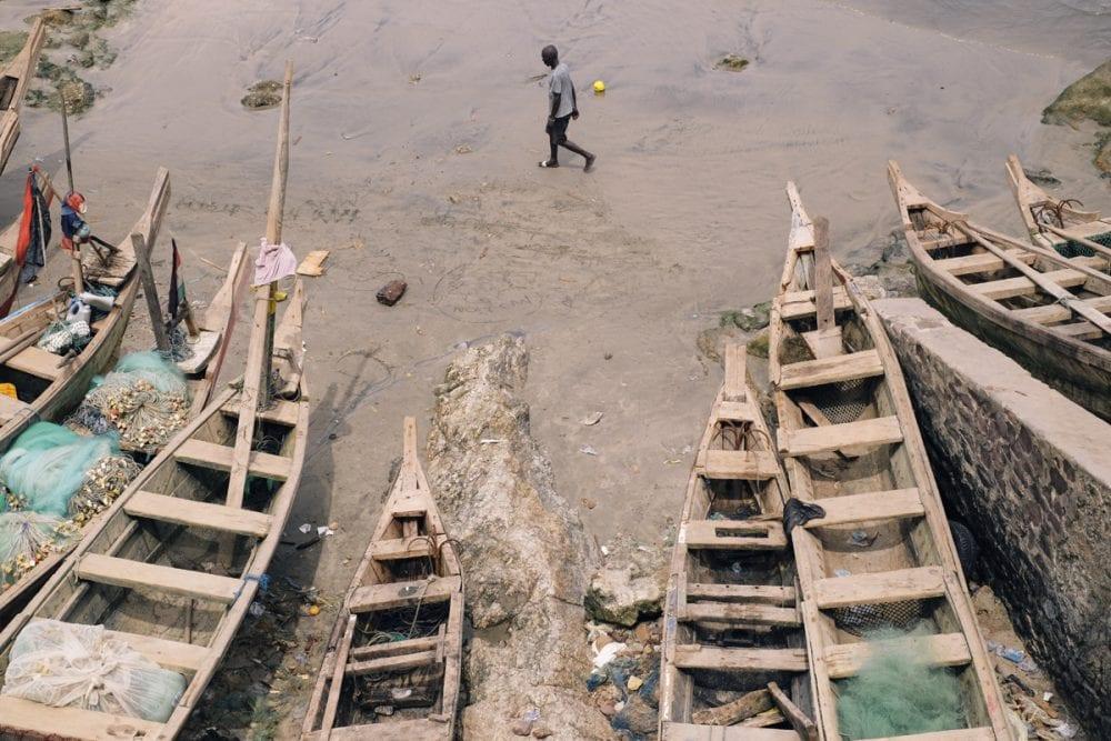Adrian Morris photographie au Ghana
