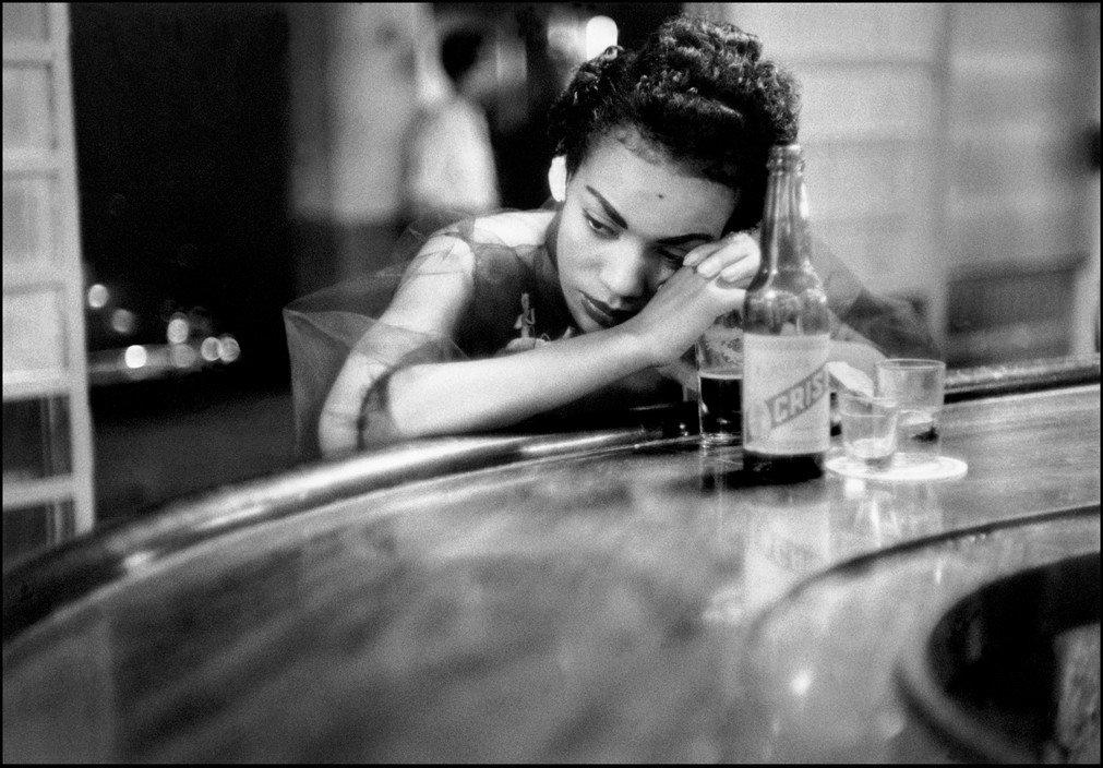 Bar girl in a brothel, Red light district, Havana, Cuba 1954
