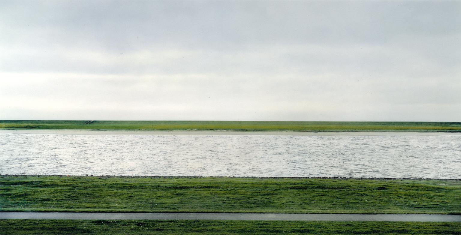Rhein II by Andreas Gursky The Rhine II, 1999 Germany