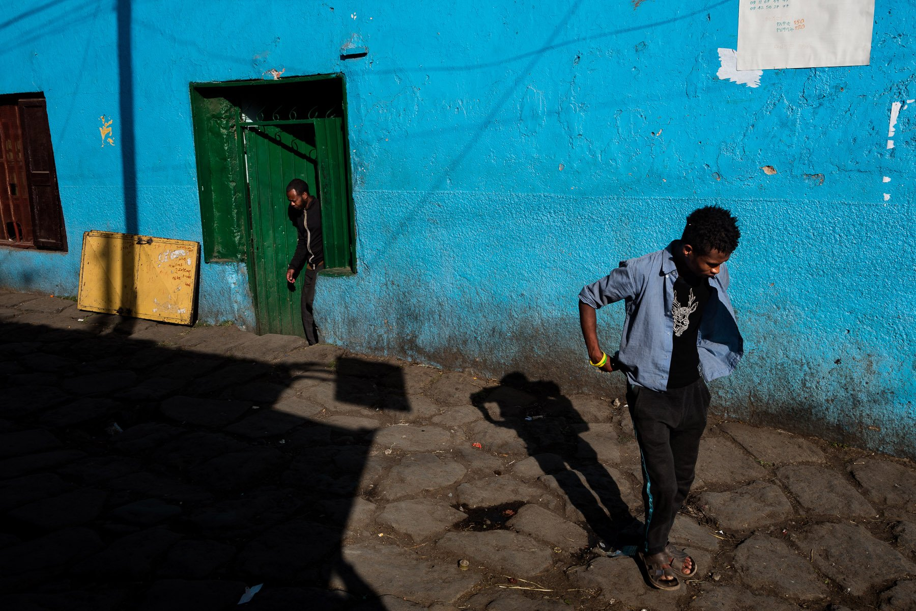 street photography, colorful images with high contrast and shadows in Ethiopia, Africa, by ivan Margot