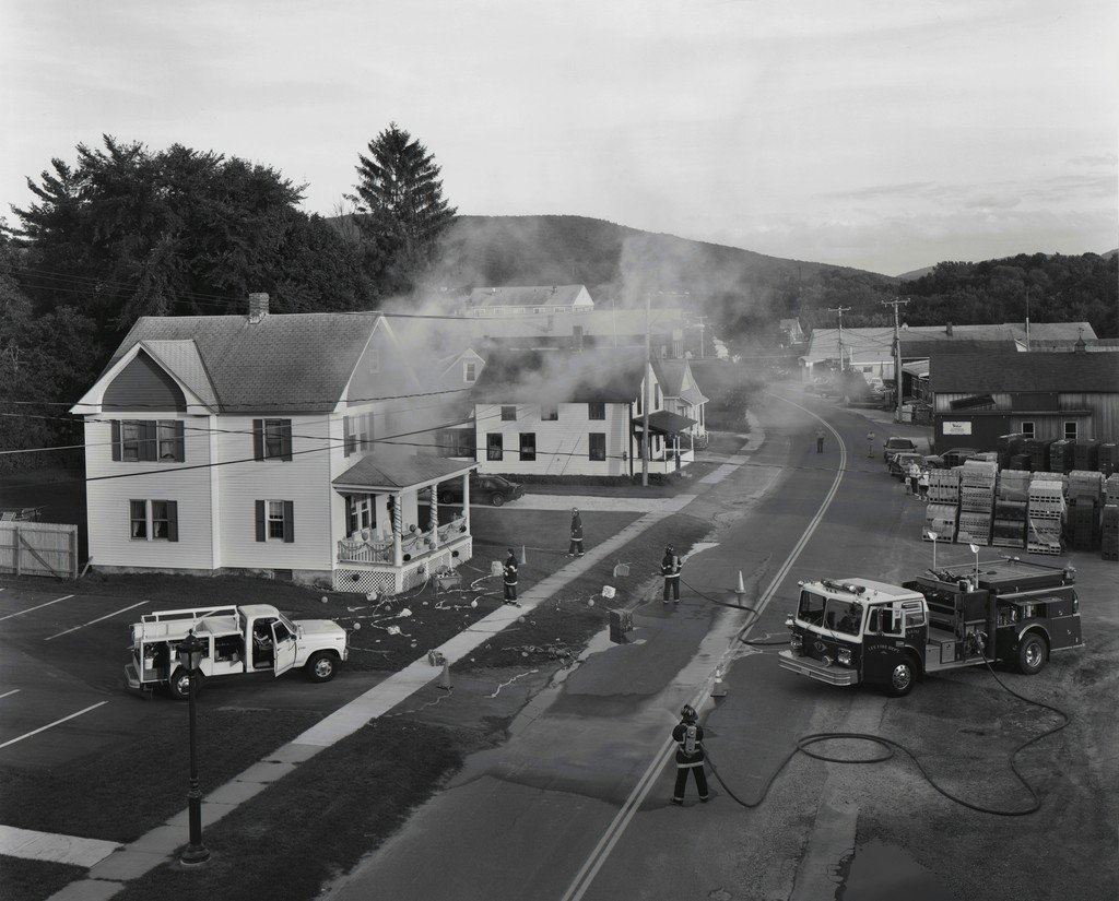 Fire trucks Black and White Photography Gregory Crewdson
