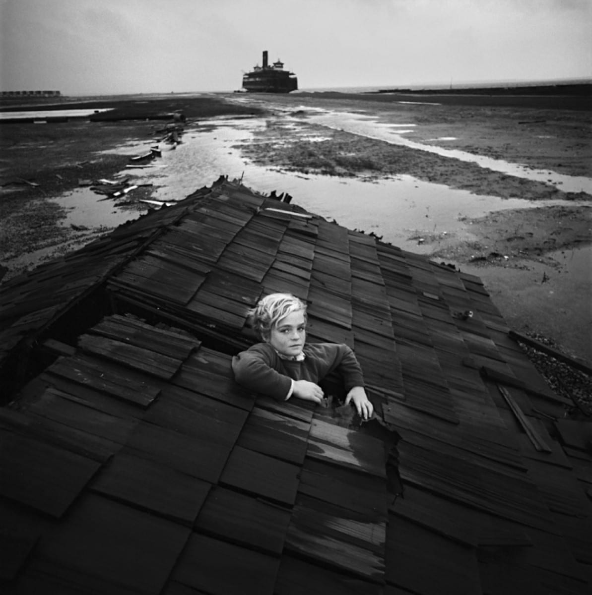 Boy in Flood Dream, Ocean City, New Jersey, 1972 © Arthur Tress Photography