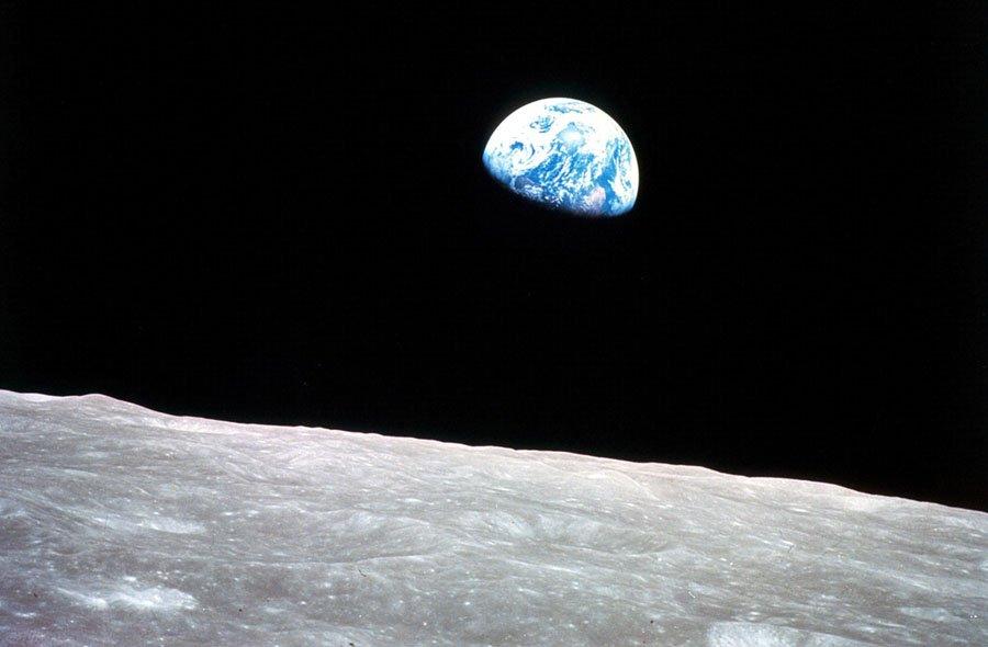 Earthrise, vue d'Apollo 8 William Anders, photographie de la NASA 1968
