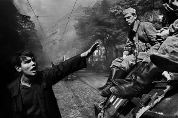Prague Invasion by Warsaw Pact troops, Prague, Czechoslovakia by Josef Koudelka / Magnum Photos 1968 Photography