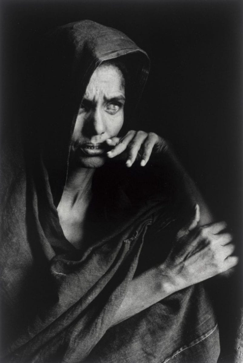 Black and White Portrait of a blind Tuareg woman, Mali 1985 Sebastiao Salgado