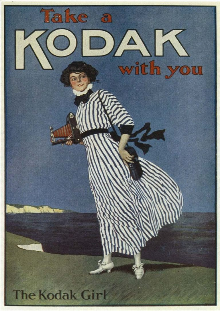 'The Kodak Girl'- an iconic Kodak advertisement from 1893 © Courtesy of Kodak Archives
