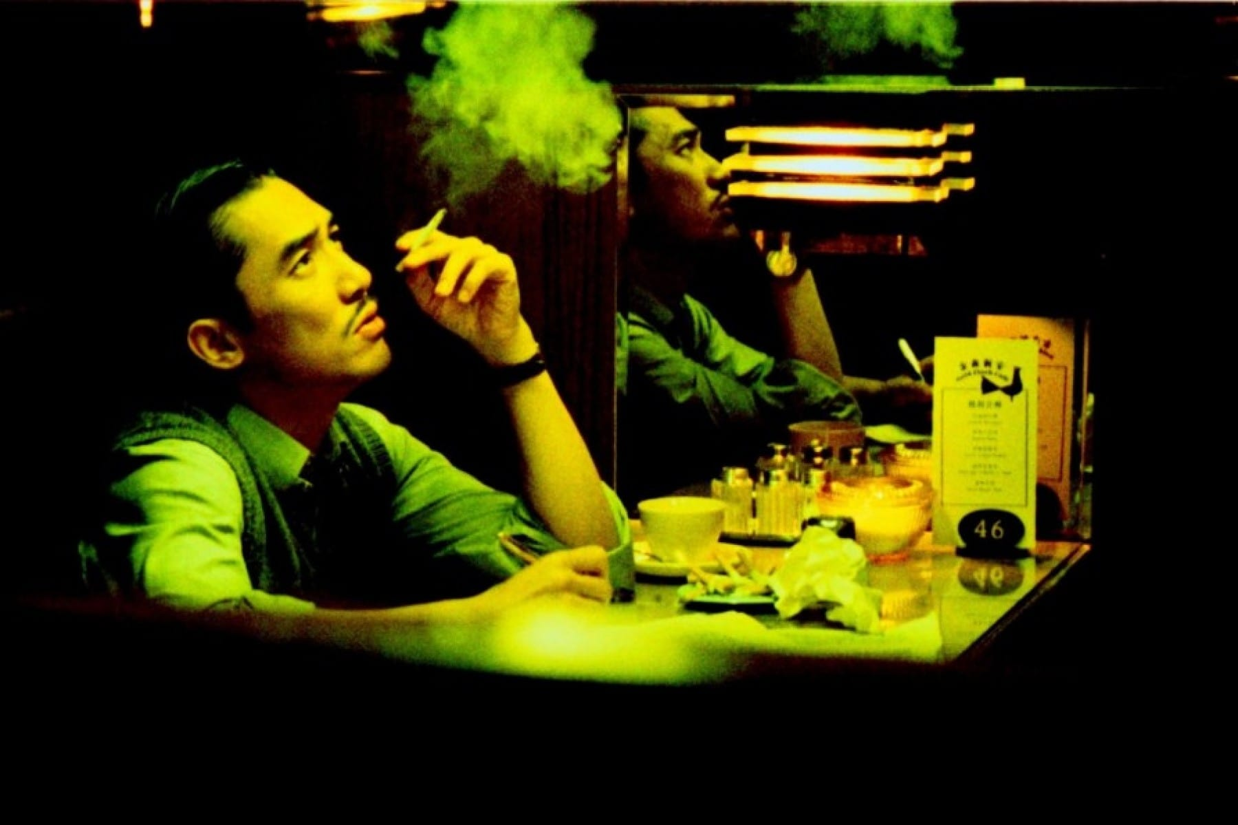 Tony Leung Chiu Wai as Chow Mo Wan - On the set of 2046 by Wong Kar-Wai Wing Shya