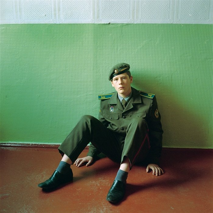 Portait photography of a young soldier by Michal Chelbin