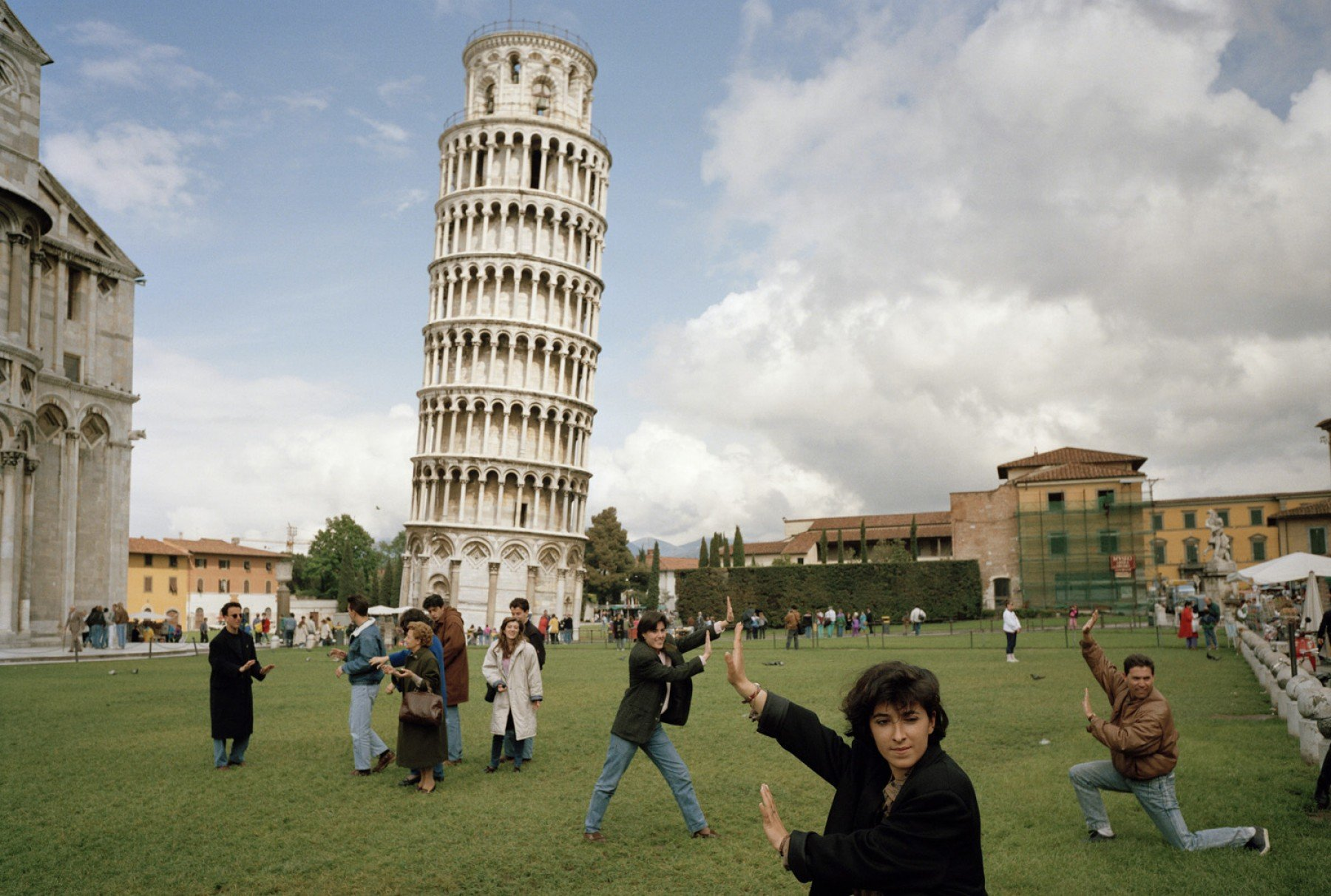 Pisa Tower Street photography by Martin Parr