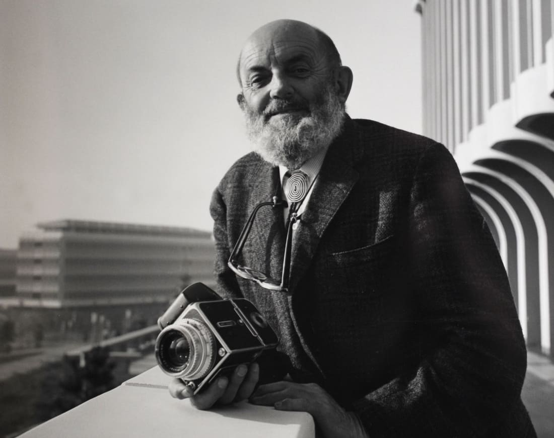 Ansel Adams with his Hasselblad © Photographer unknown