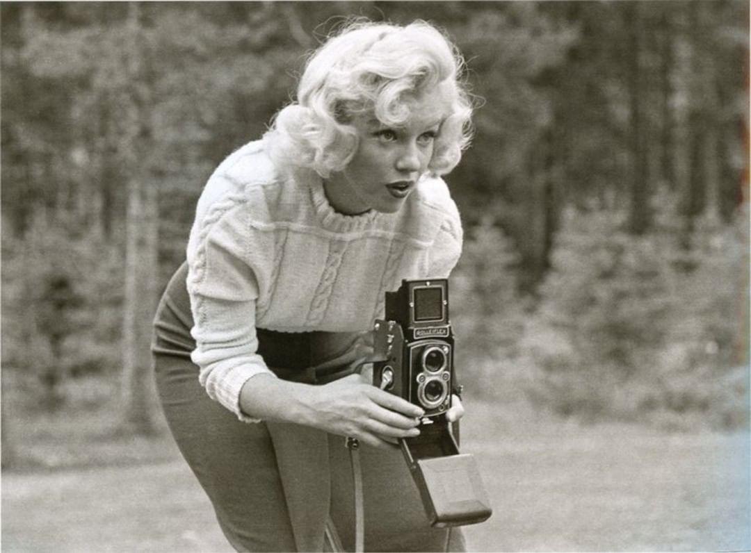 Marilyn Monroe Banff, Kanada, 1953 Rolleiflex