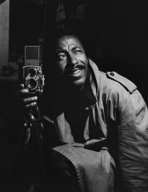 Self-portrait of Gordon Parks Roleiflex