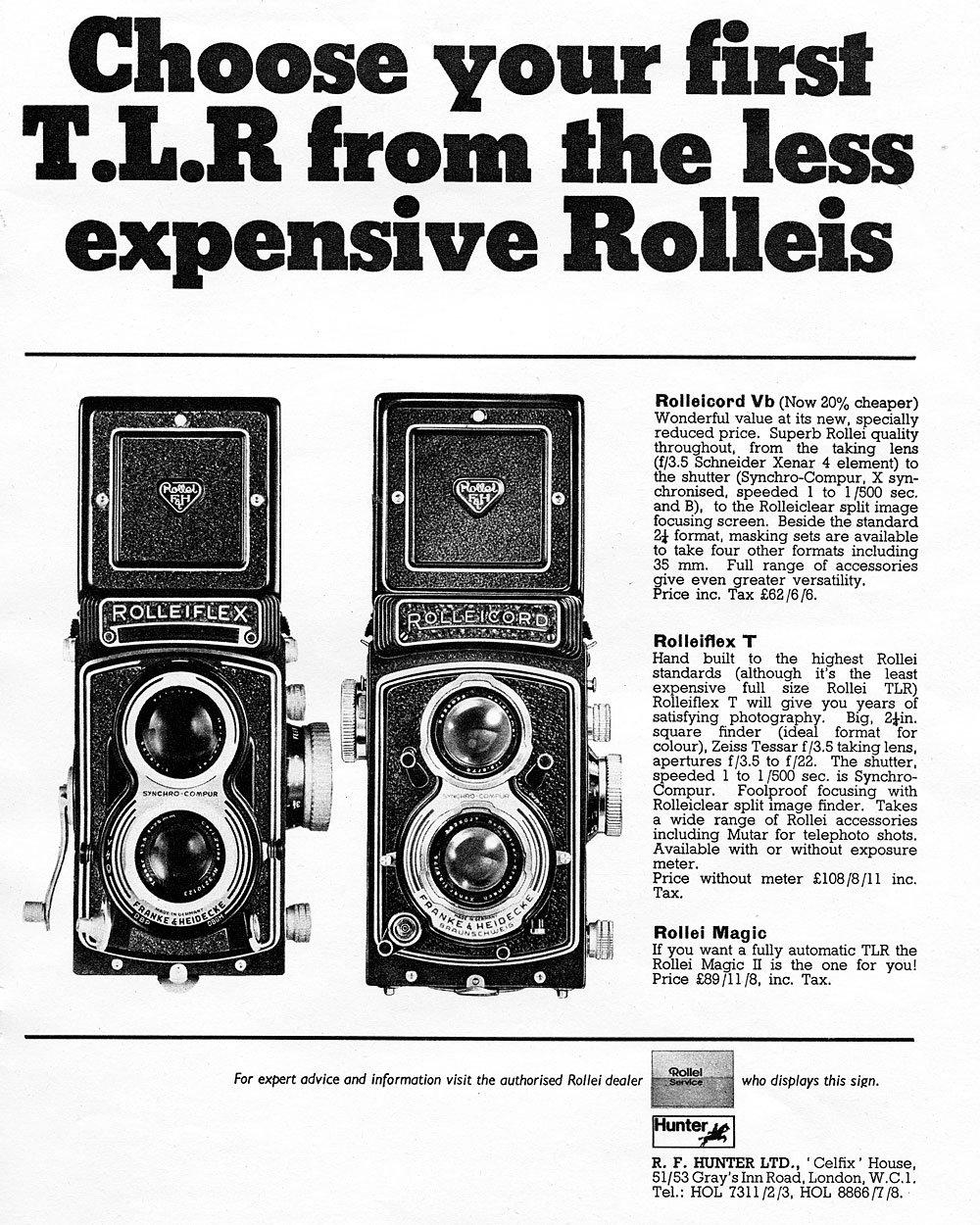 Manuale Rollei e Rolleiflex