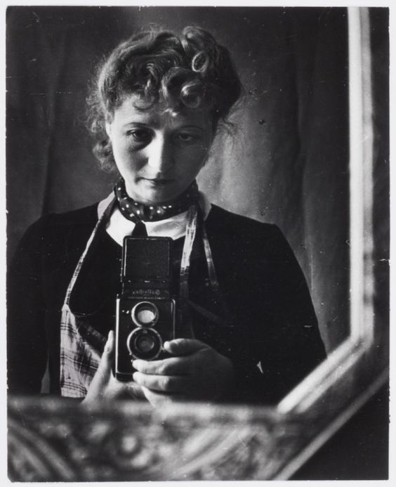 Self-portrait in mirror, Marseille, 1943 © Julia Pirotte