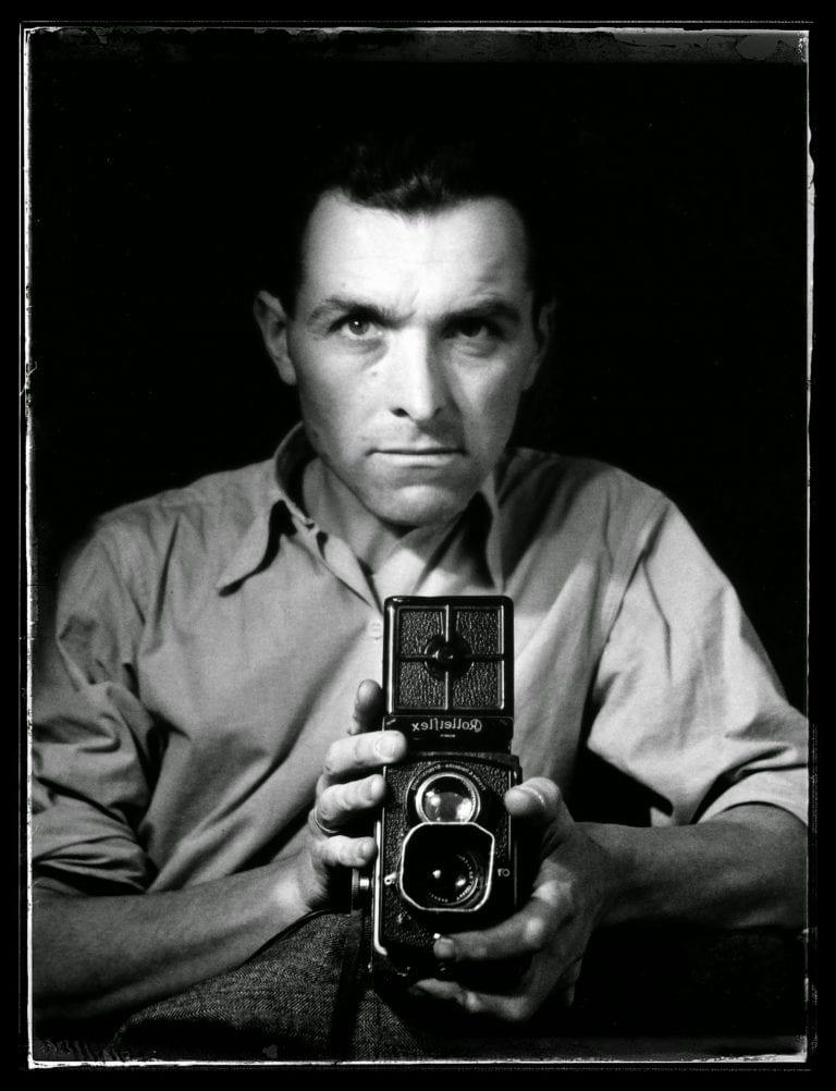 Robert Doisneau Autoportrait Rolleiflex