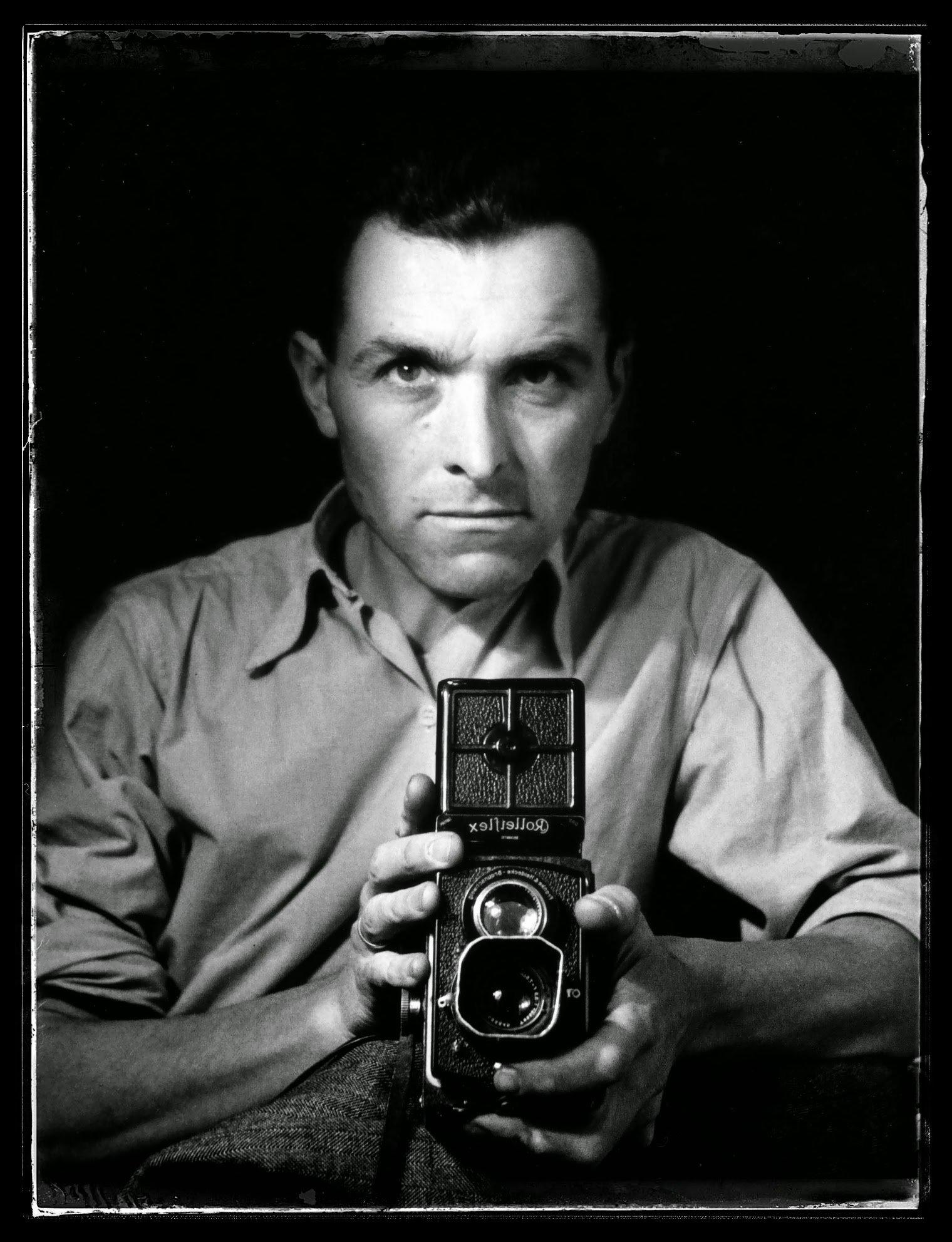 Robert Doisneau Autoritratto Rolleiflex