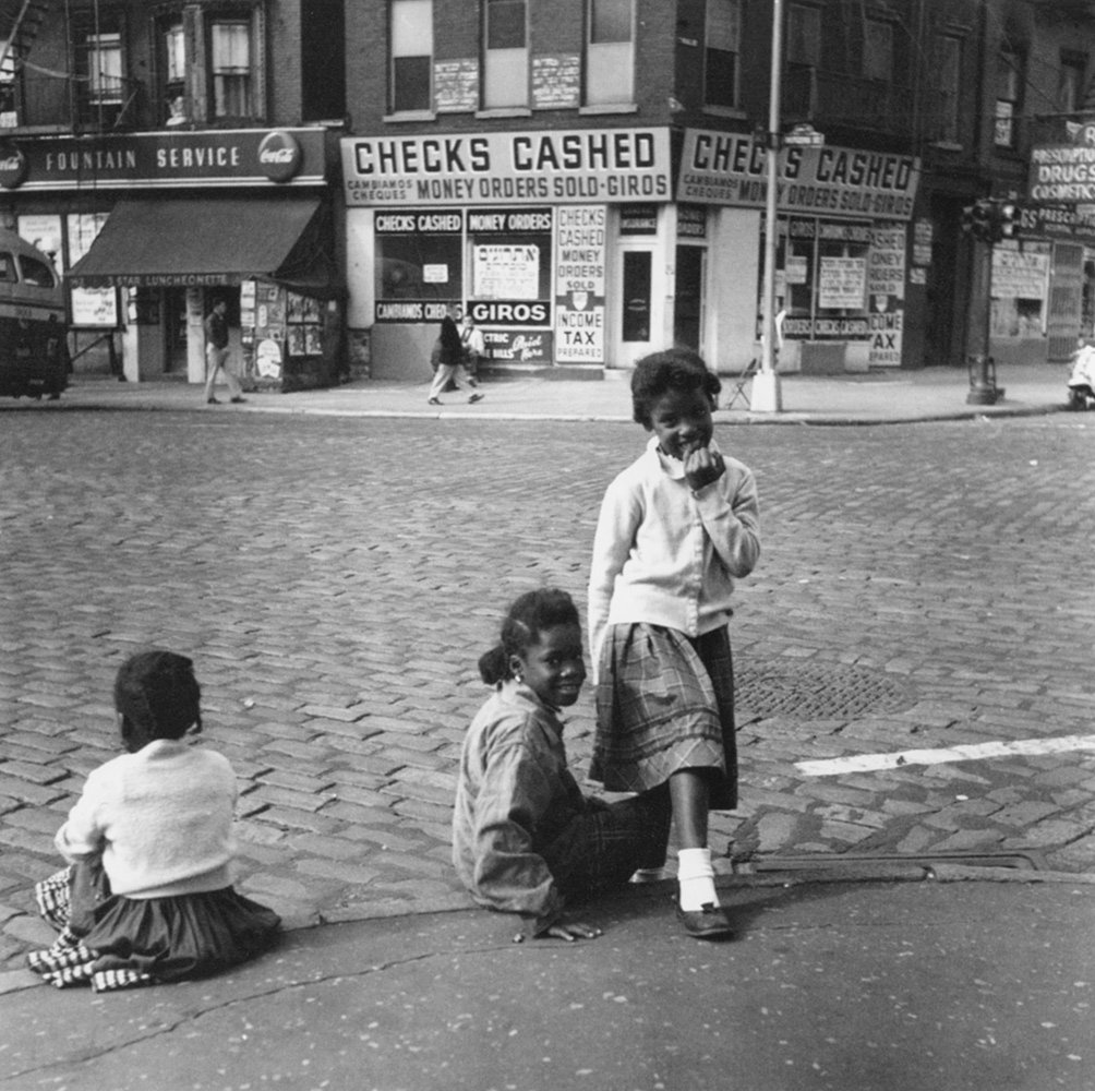 Kids in the street Lower East Side, New York City street photography, black and white photography Cheryl Dunn Everybody Street
