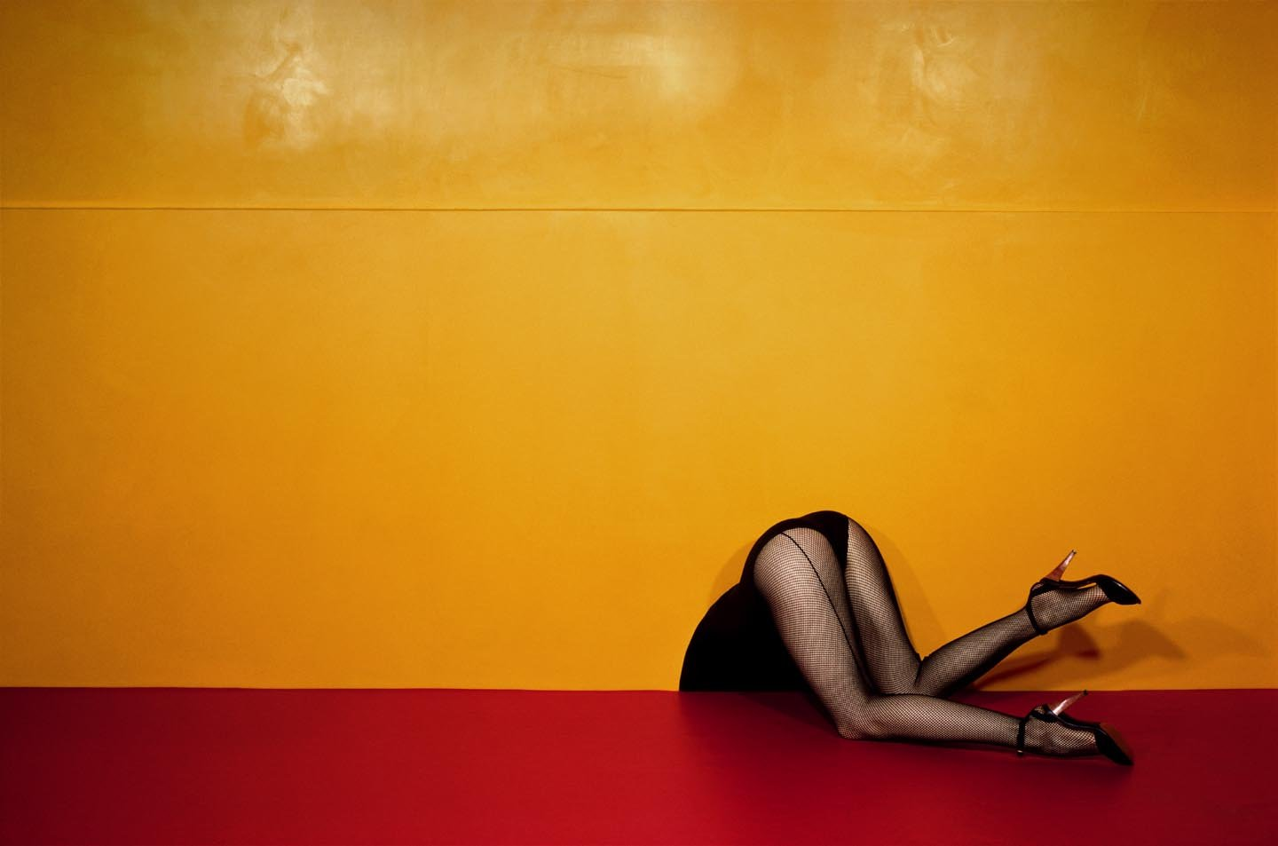 Guy Bourdin fashion photography woman yellow red