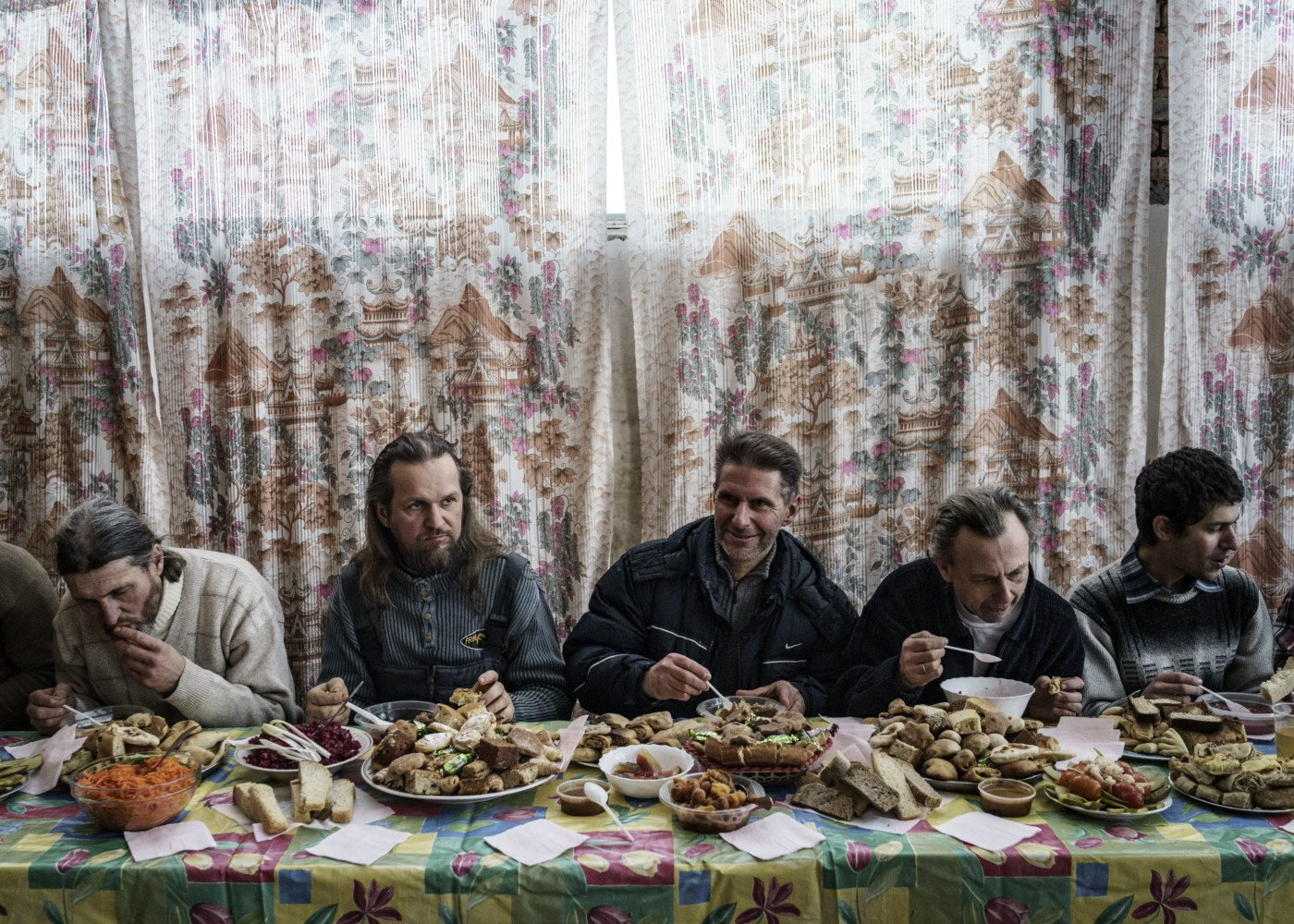 Disciples of Vissarion at a Communal lunch, Russia, 2015