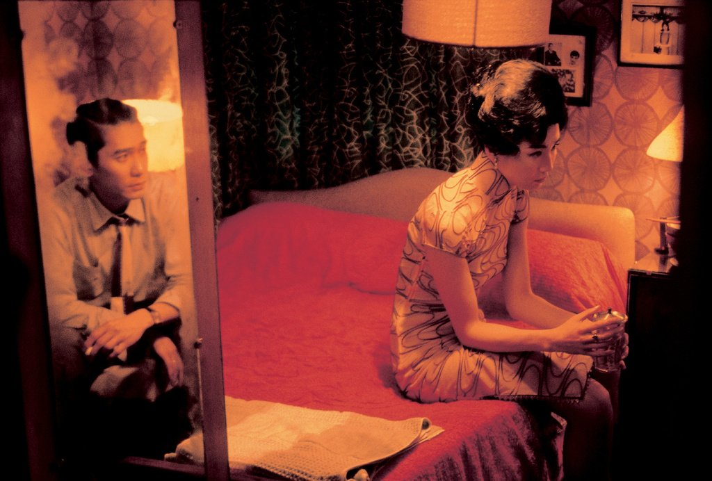 Actors Tony Leung Chiu Wai & Maggie Cheung on the set of In the Mood for Love by Wong Kar Wai © Wing Shya