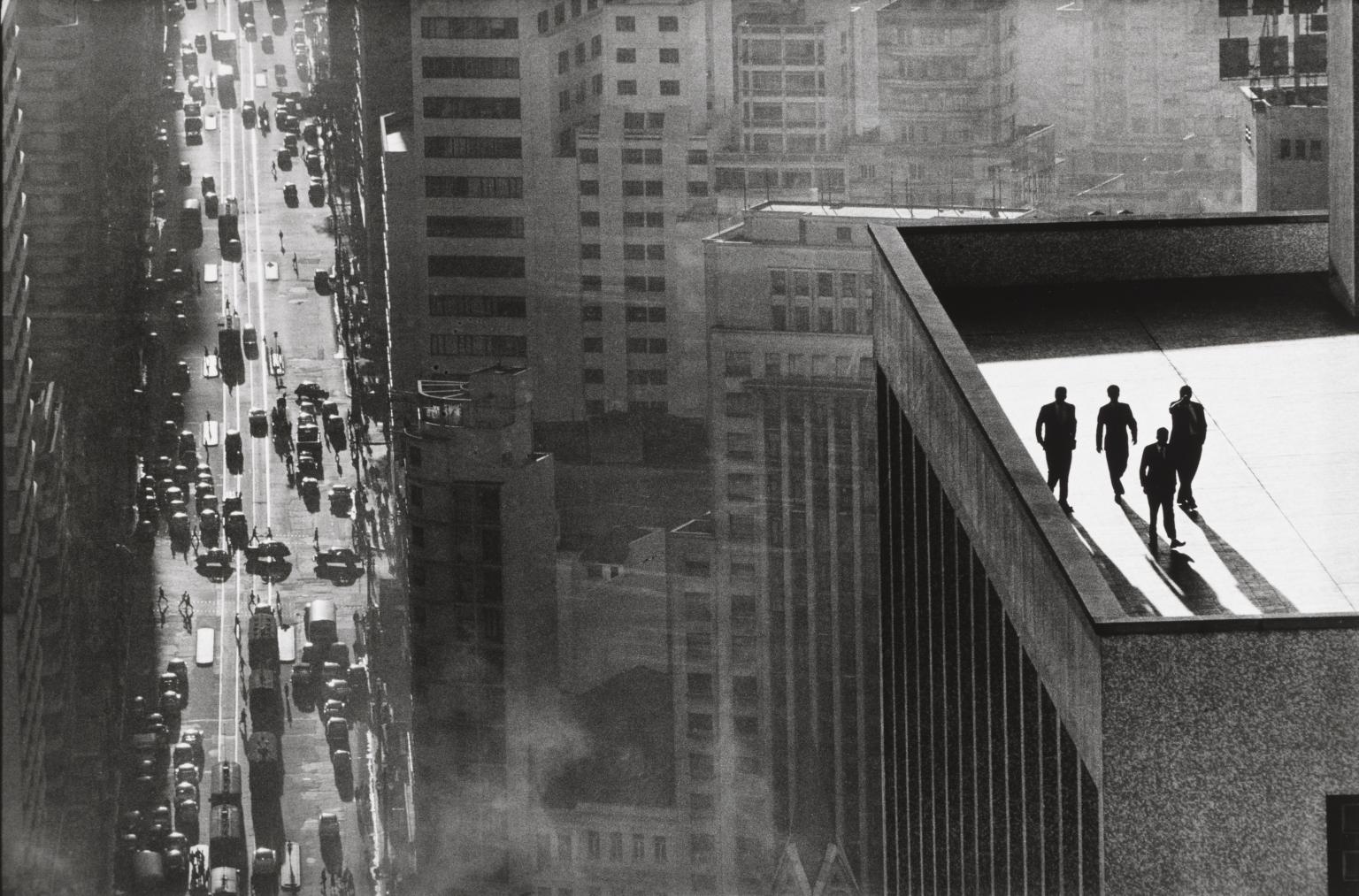 Brazil René Burri street photography men building