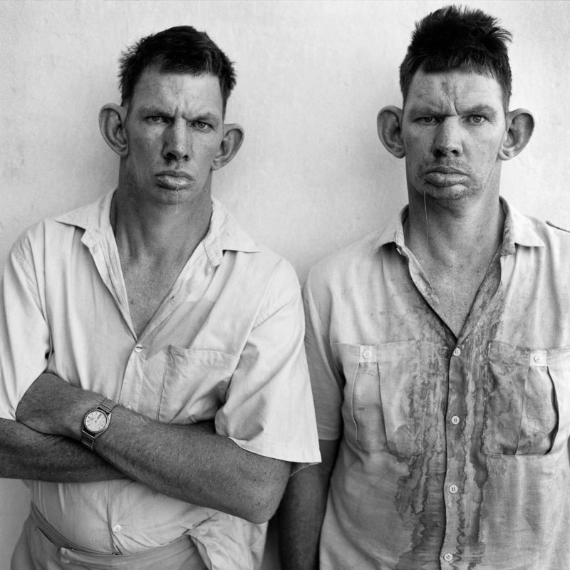 Black and White Photography Roger Ballen Dresie Casie twins South Africa