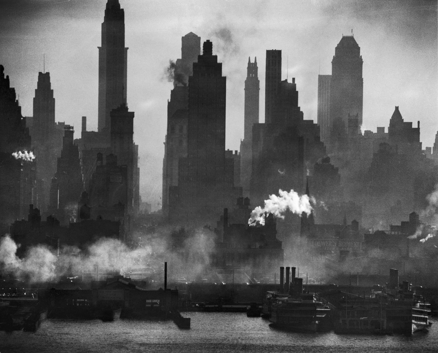 Landscape Photography New York Across the Hudson, NYC, by Andreas Feininger