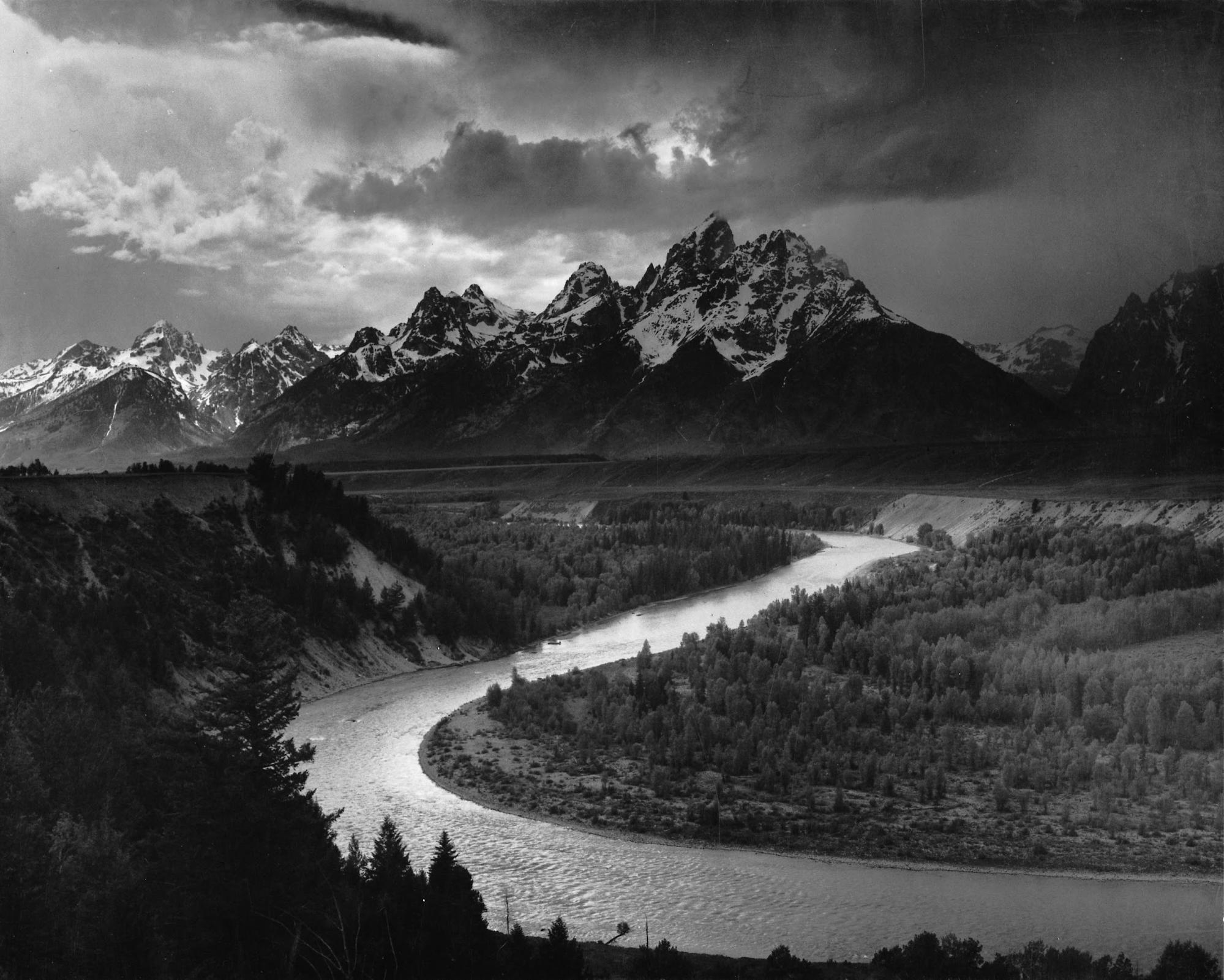 History of Landscape Photography The Tetons and the Snake River Wyoming 1942 by Ansel Adams