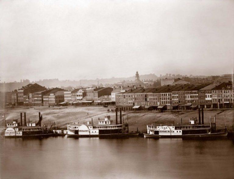 肯塔基州纽波特的俄亥俄河,1848年©Charles Fontayne / WS Porter风景摄影史