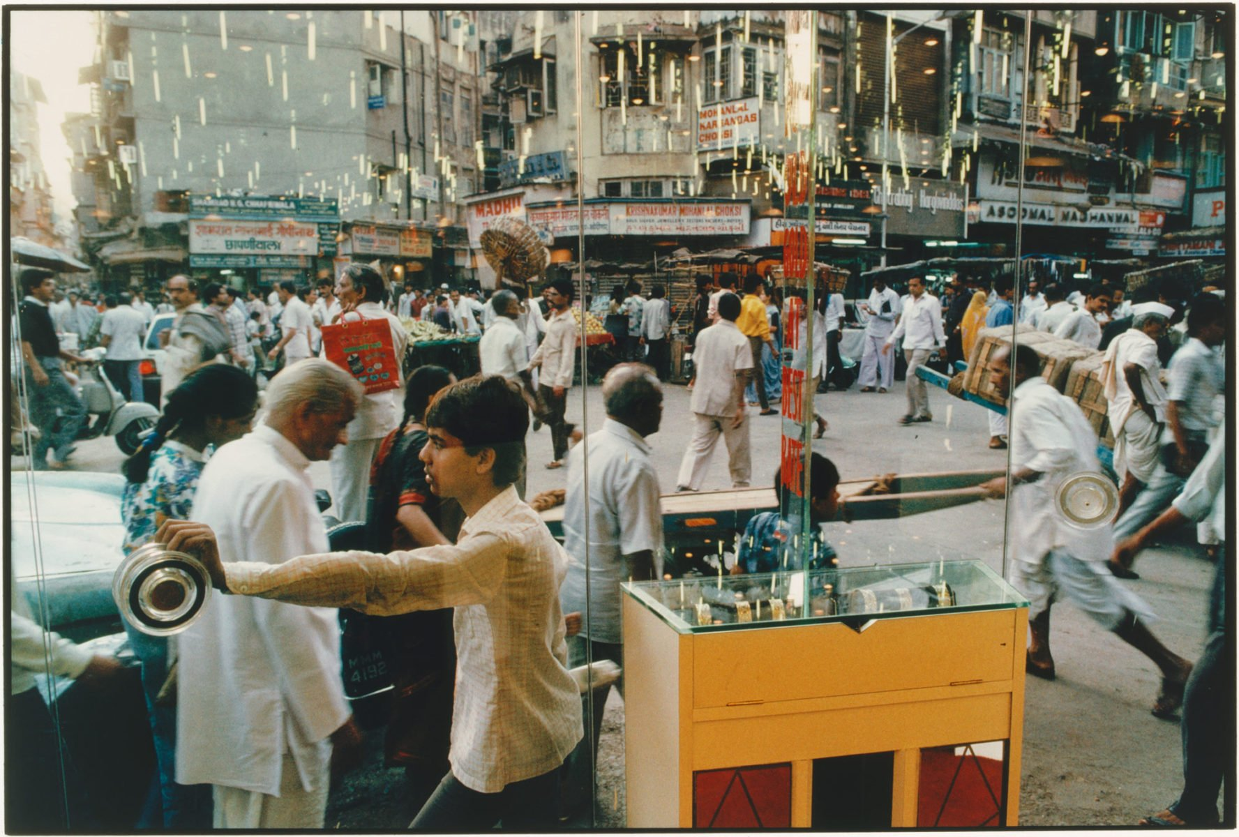 Color Photography in India Zaveri Bazaar and Jeweller's Showroom Bombay 1989 Raghubir Singh