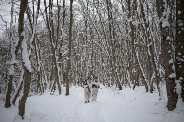 Étudiants de l'école des cadets General Ermolov Stavropol Russie photographie documentaire par Eduard Korniyenko