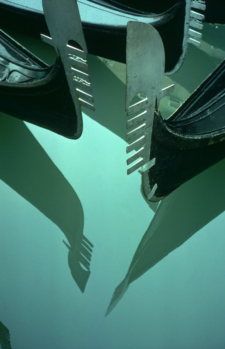 Gondola Reflection, Venice, Italy 1955 Ernst Haas