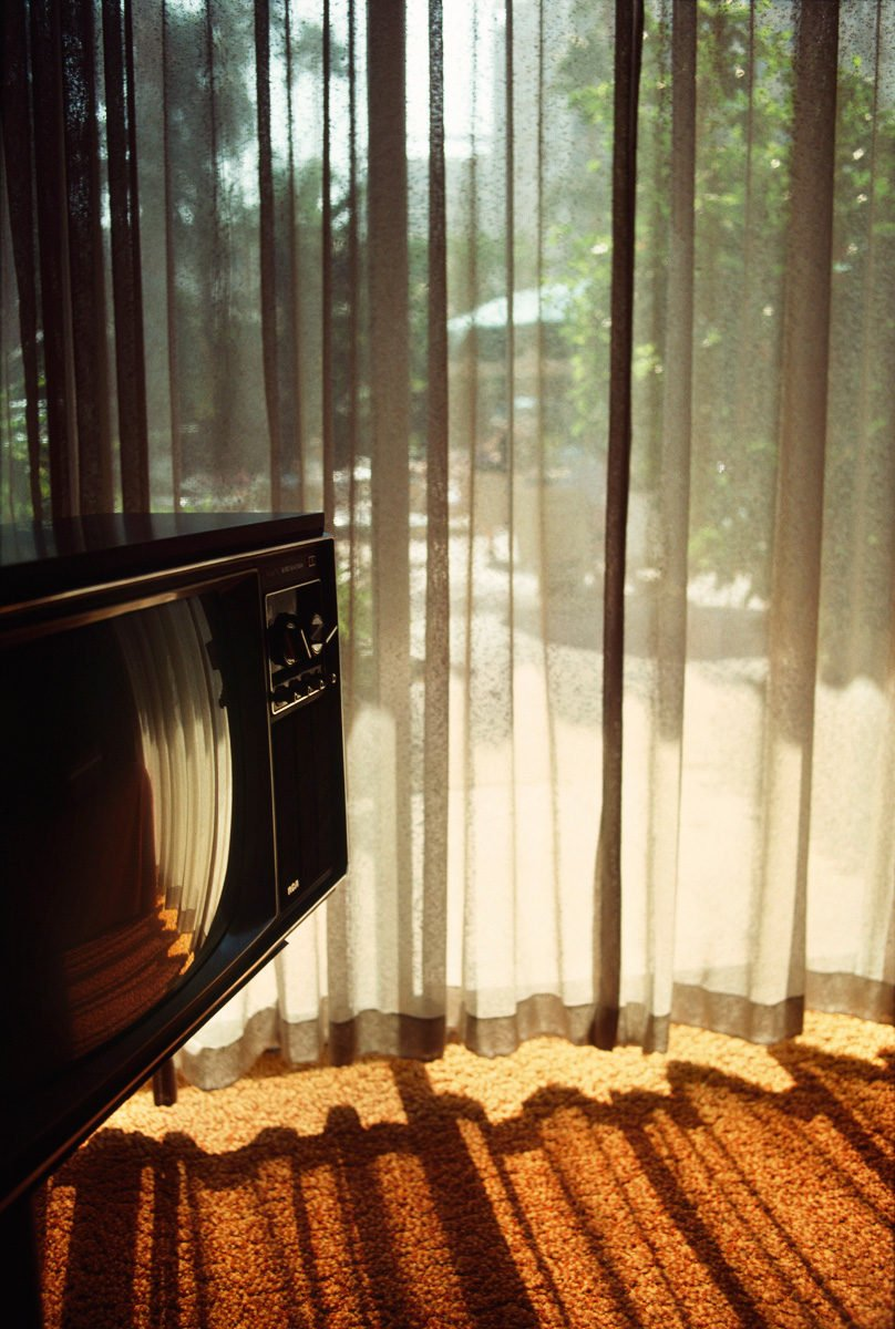 TV Photograph by Ernst Haas, California, 1976