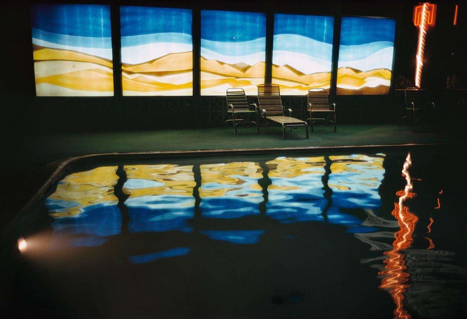 Swimming Pool Reflection by Ernst Haas