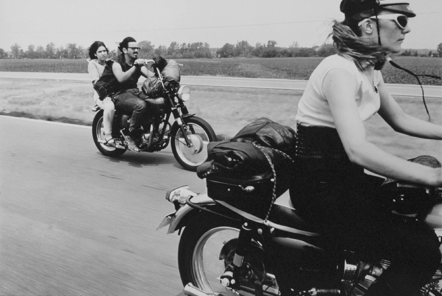 From Dayton to Columbus, Ohio Motorbike photography Danny Lyon