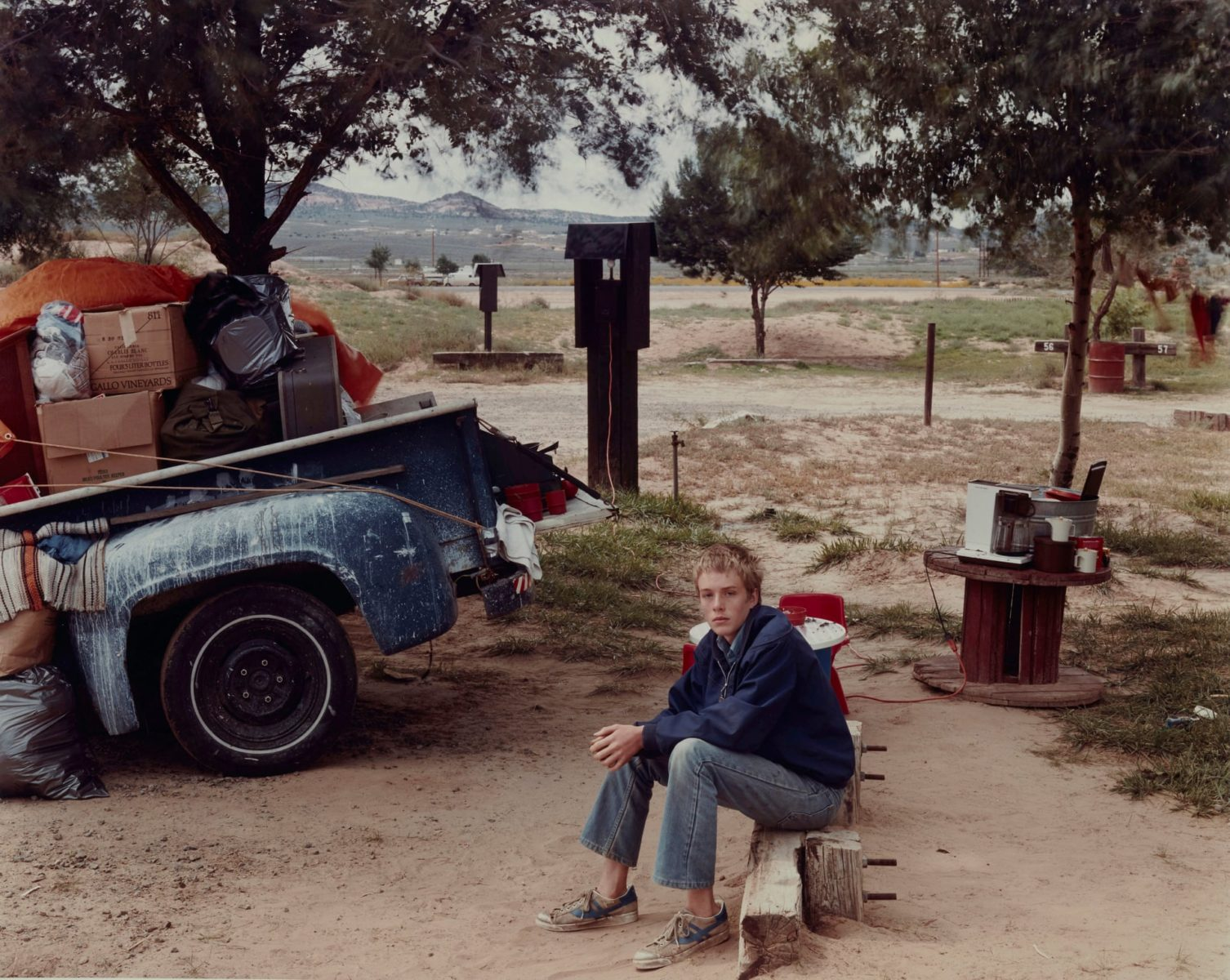 Red Rock State Campground, Gallup, New Mexico, 1982, photograph by Joel Sternfeld