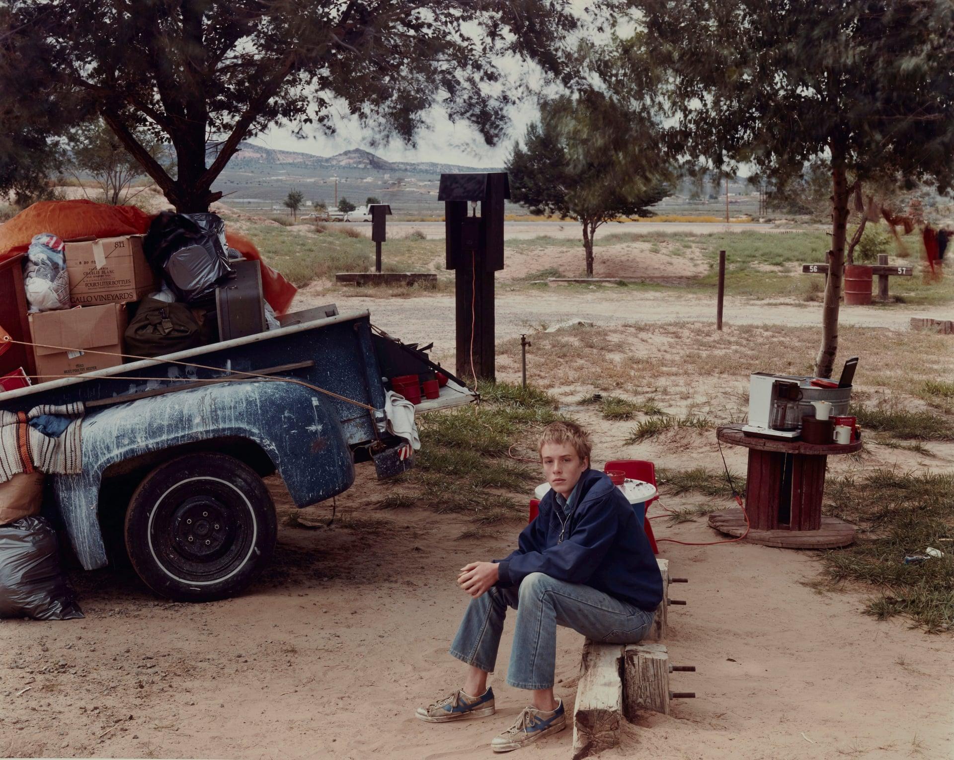 Red Rock State Campground, Gallup, New Mexico, 1982, fotografia di Joel Sternfeld