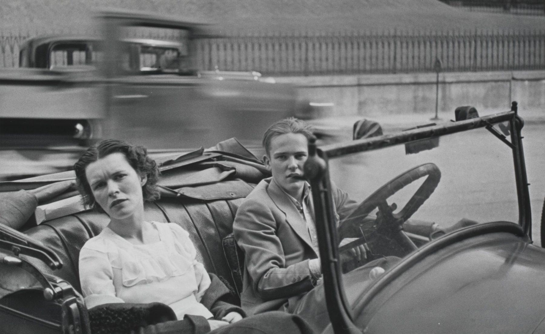 Petite ville Main Street, USA, 1932 Walker Evans, photographie de road trip
