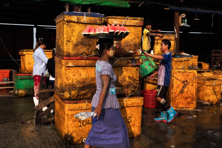 Fish market,Yangon, Myanmar 2018, photo by Andrea Torrei