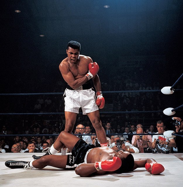 Muhammad Ali vs. Sonny Liston, Lewiston, Maine, USA, May 25, 1965 © Neil Leifer
