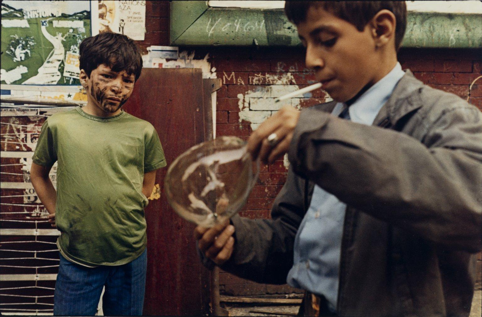 Boy with Bubble, 1972 photograph by Helen Levitt